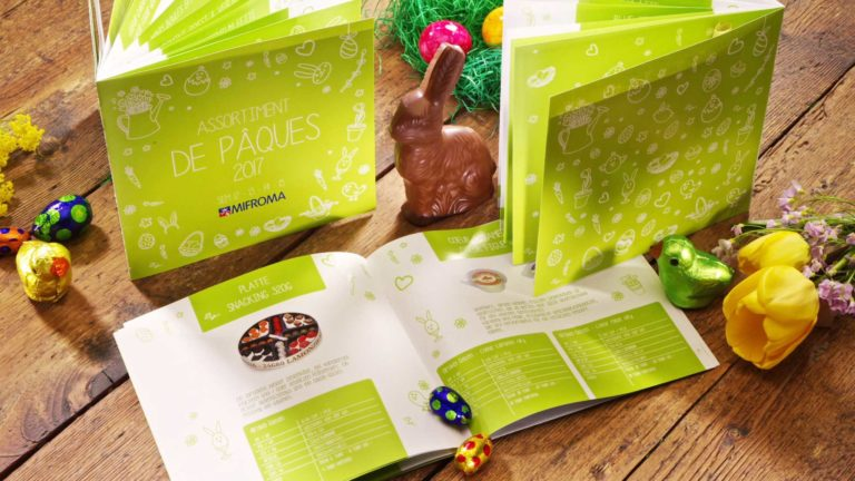 Mifroma Catalogue de Pâques par l'Agence Packaging Satellites Design