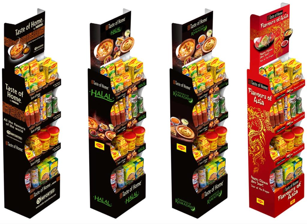 Comment Nestlé cible le marché ethnique - display carton Taste of home by Nestlé
