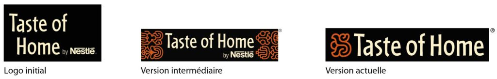 évolution du logo Taste of home by Nestlé