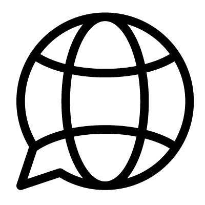 Icon polyglott monde