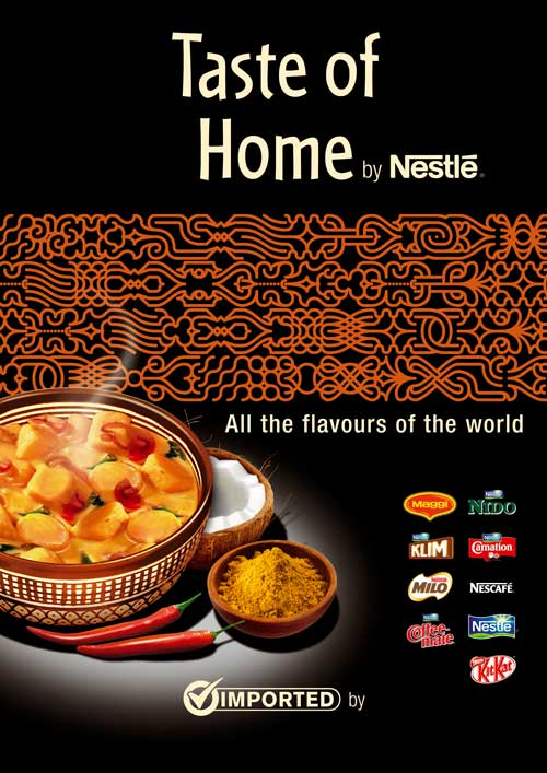 identité visuelle Taste of home by Nestlé