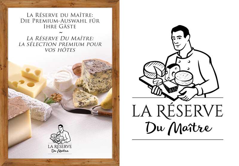Une nouvelle ligne de fromages pour la gastronomie - logo et catalogue