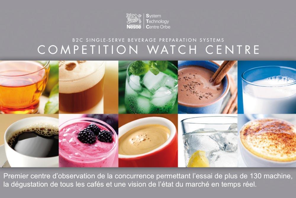 agence de graphic design - graphisme - graphiste - Nestlé Competition Watch Center